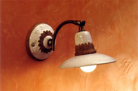 Plafoniere Rustiche A Parete : Toscot fiesole lampada parete rustica