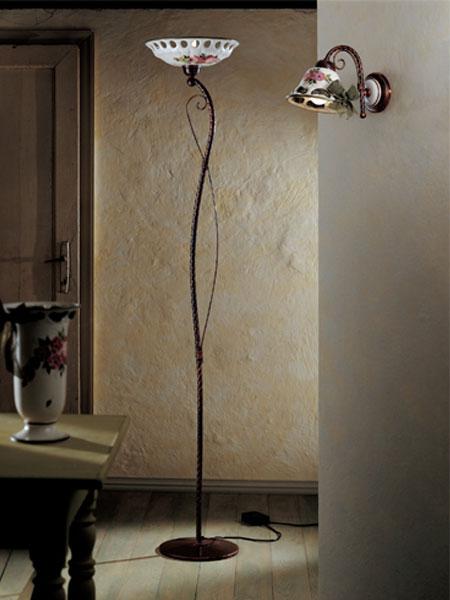 ferroluce lampadari catalogo : FerroLuce Lampada da terra NAPOLI C 367 TE - Vendita lampadari online