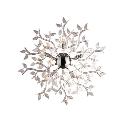 Ideal Lux Lampada a Muro o a Soffitto SPRING PL5 Cromo e Iride ...