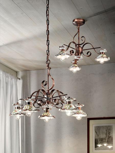lampadari milano vendita : 592 473 20 % aggiungi al carrello lampadario in ceramica decorata a ...