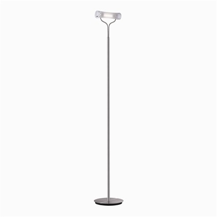 Ideal lux lampada da terra stand up pt1 cromo for Lampadari da tinello