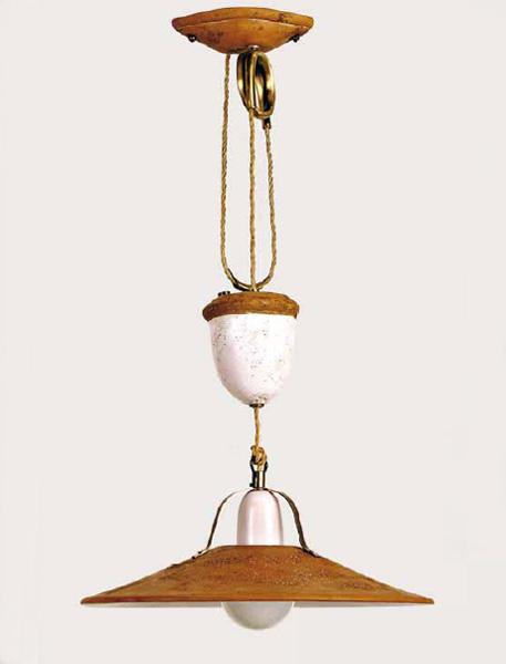Toscot lampada a sospensione asiago 213 for Vendita rustici asiago
