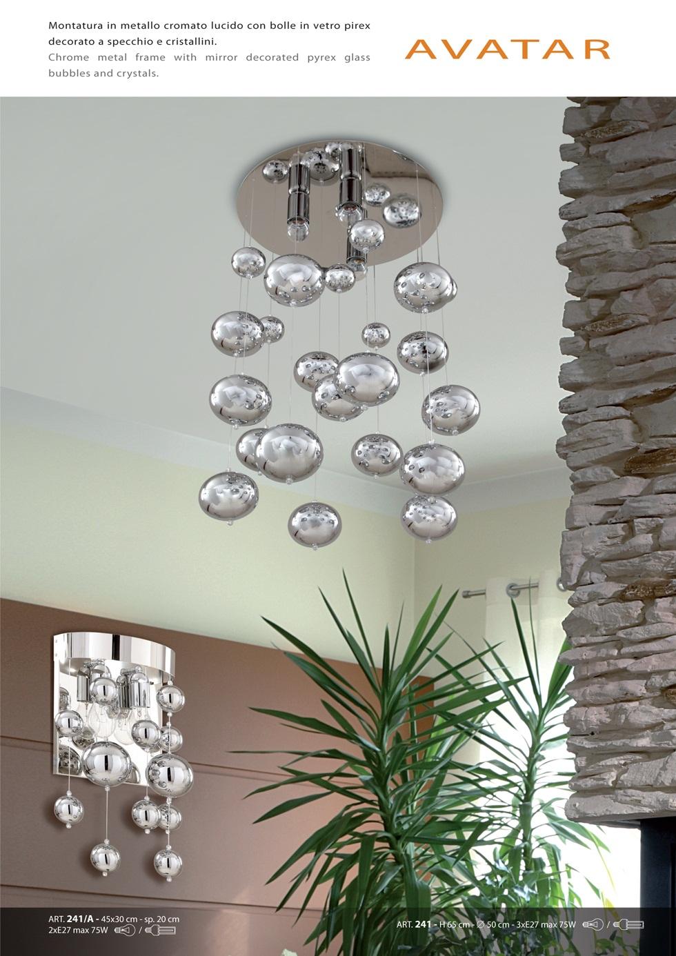 lampadari sillux : Padana Lampadari Applique Avatar 241 A - Vendita lampadari online