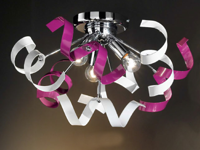 Plafoniere Camerette Bambini : Duep lampada plafoniera vortice pl viola 3 luci