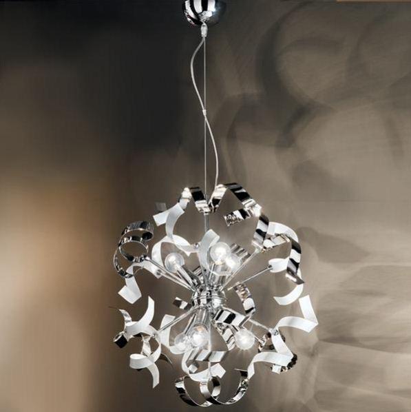 Duep illuminazione lampada a sospensione vortice s cromo - Lampadari da bagno moderni ...