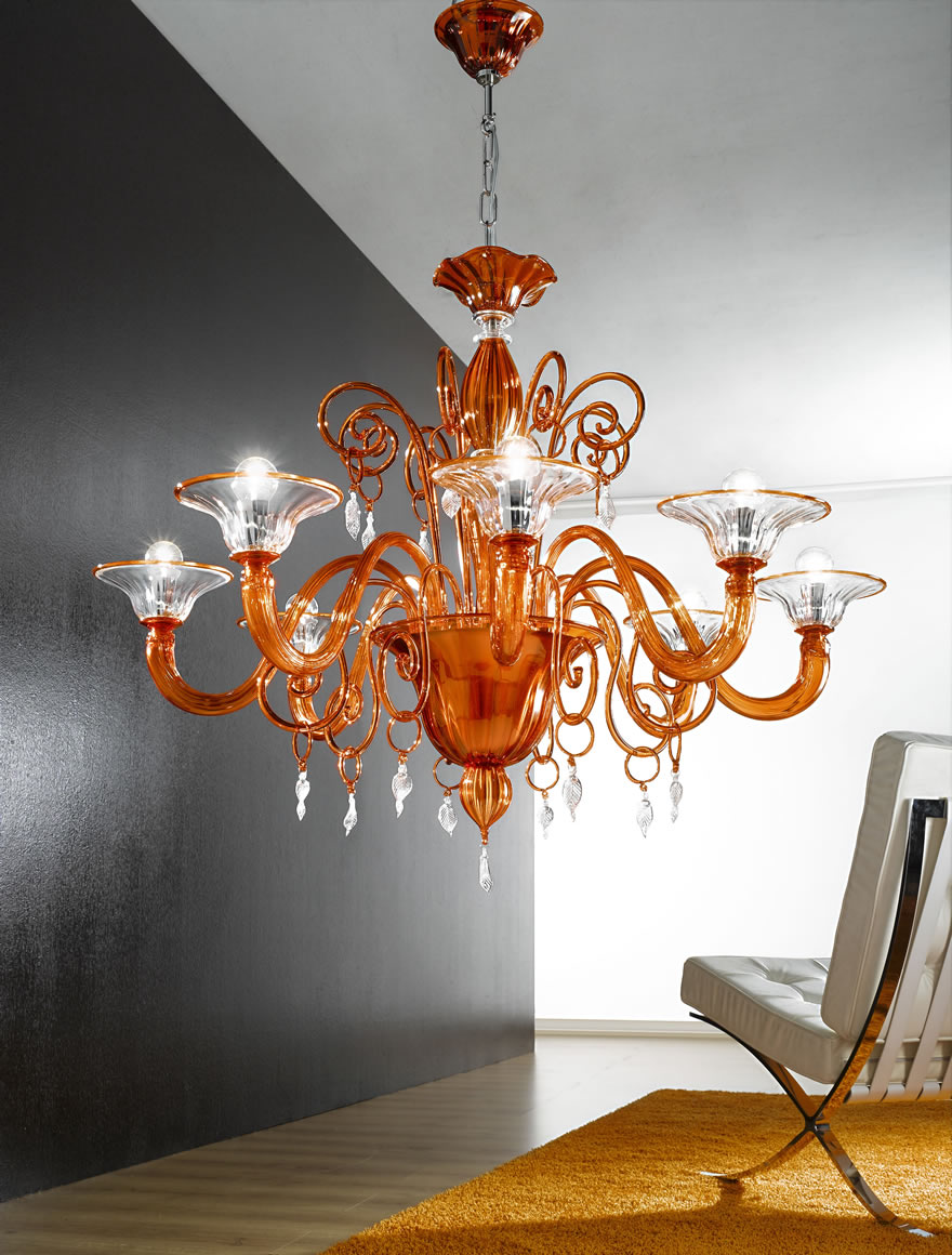 ferroluce lampadari catalogo : Vetrilamp Lampada a Sospensione 972/8 - Vendita lampadari online