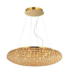 Ideal lux lampada a sospensione king sp12 oro for Lampadari da tinello
