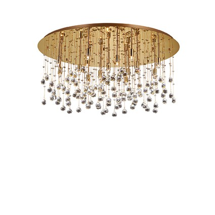 Lux Lampada a Plafoniera MOONLIGHT PL12 ORO - Notali Vendita lampadari ...