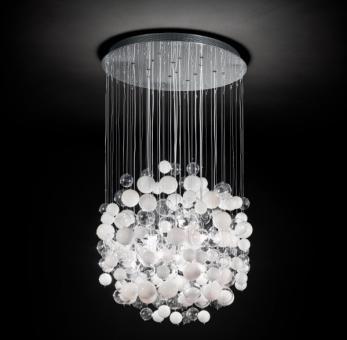 ideal lux lampada a plafoniera bollicine sp14 bianco vendita lampadari online