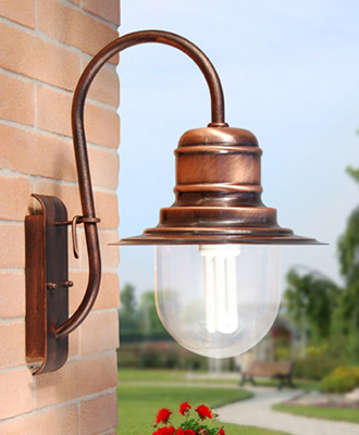 lampadari per esterno : Lampada Da Esterno A Muro In Acciaio Inox E Opale Pictures