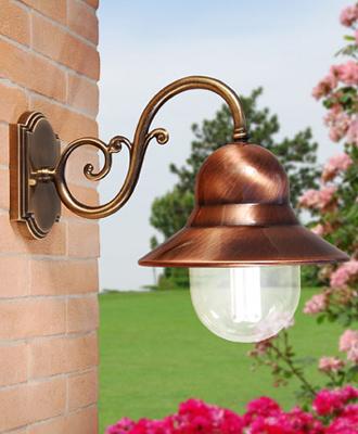Liberti lamp applique da esterno vecchio portico - Lampade da esterno parete rustiche ...