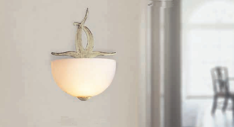 Lam via dese lampada da parete ag avorio striato