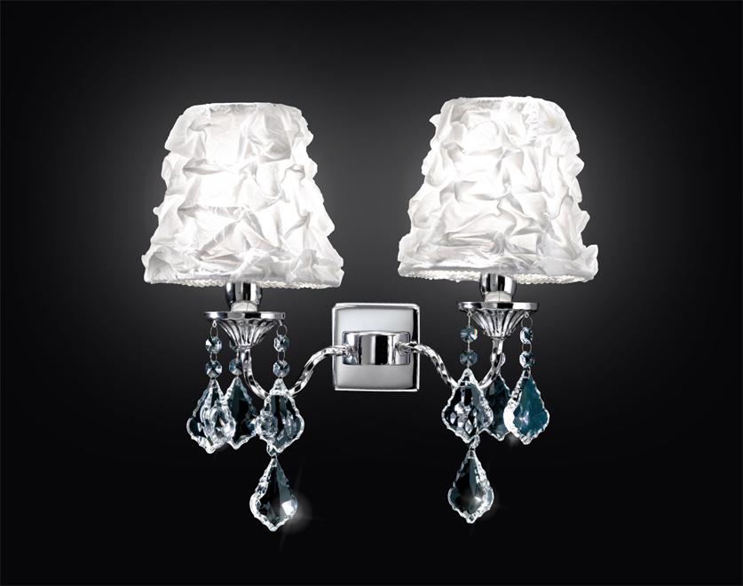 Lampadario Bianco Opaco : Contemporanea lampada da parete oxa a bianco