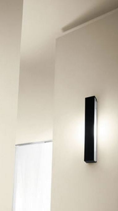 Sikrea lampada da parete riga/45 nero   notali vendita lampadari ...