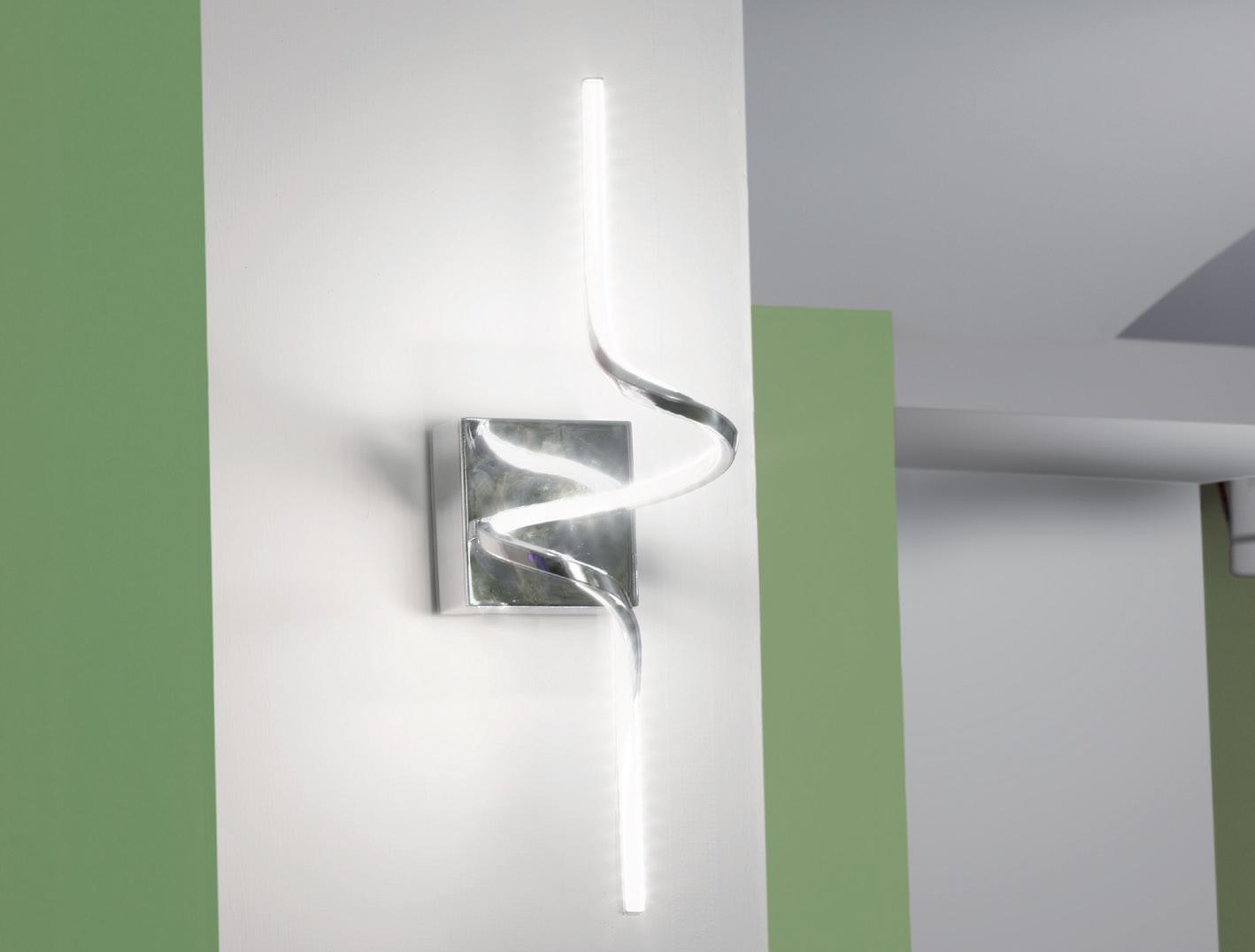 Sikrea lampada da parete nives a led for Lampadari con led