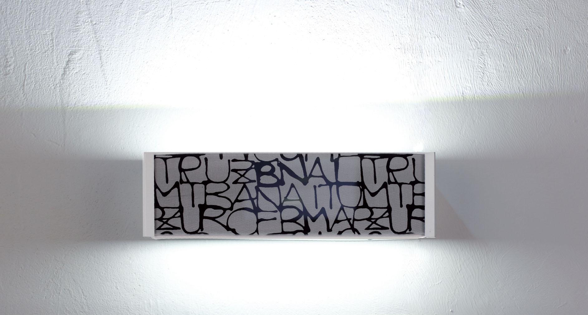 Sikrea lampada da parete tea a led con vetro decorato