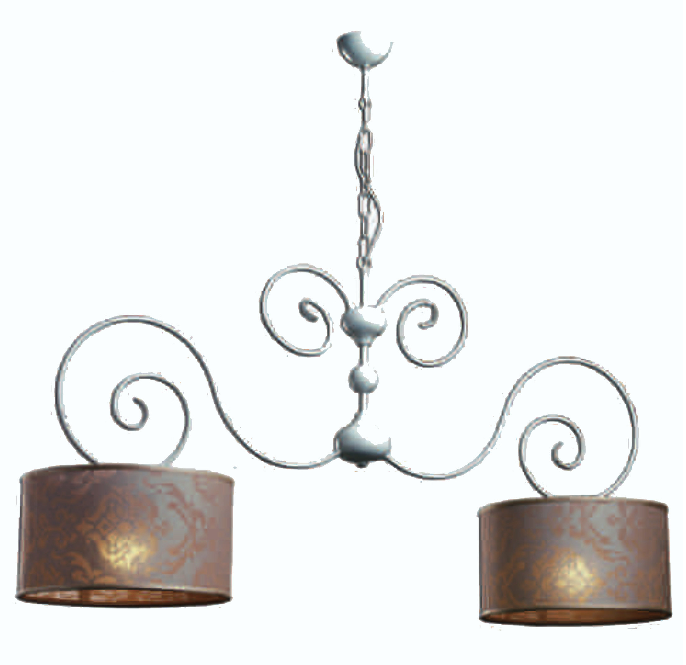 Notali bilanciere shabby chic 2 for Lampade shabby chic online