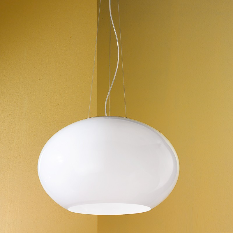 DueP Sospensione 2602/SG - Colore bianco 1 Luce