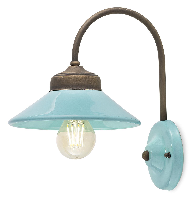 Ferroluce retro 39 colors lampada da parete c1630 for Lampadari vintage