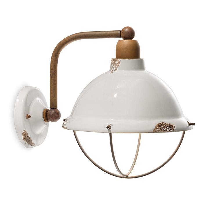 ferroluce retro 39 industrial lampada da parete c1681. Black Bedroom Furniture Sets. Home Design Ideas