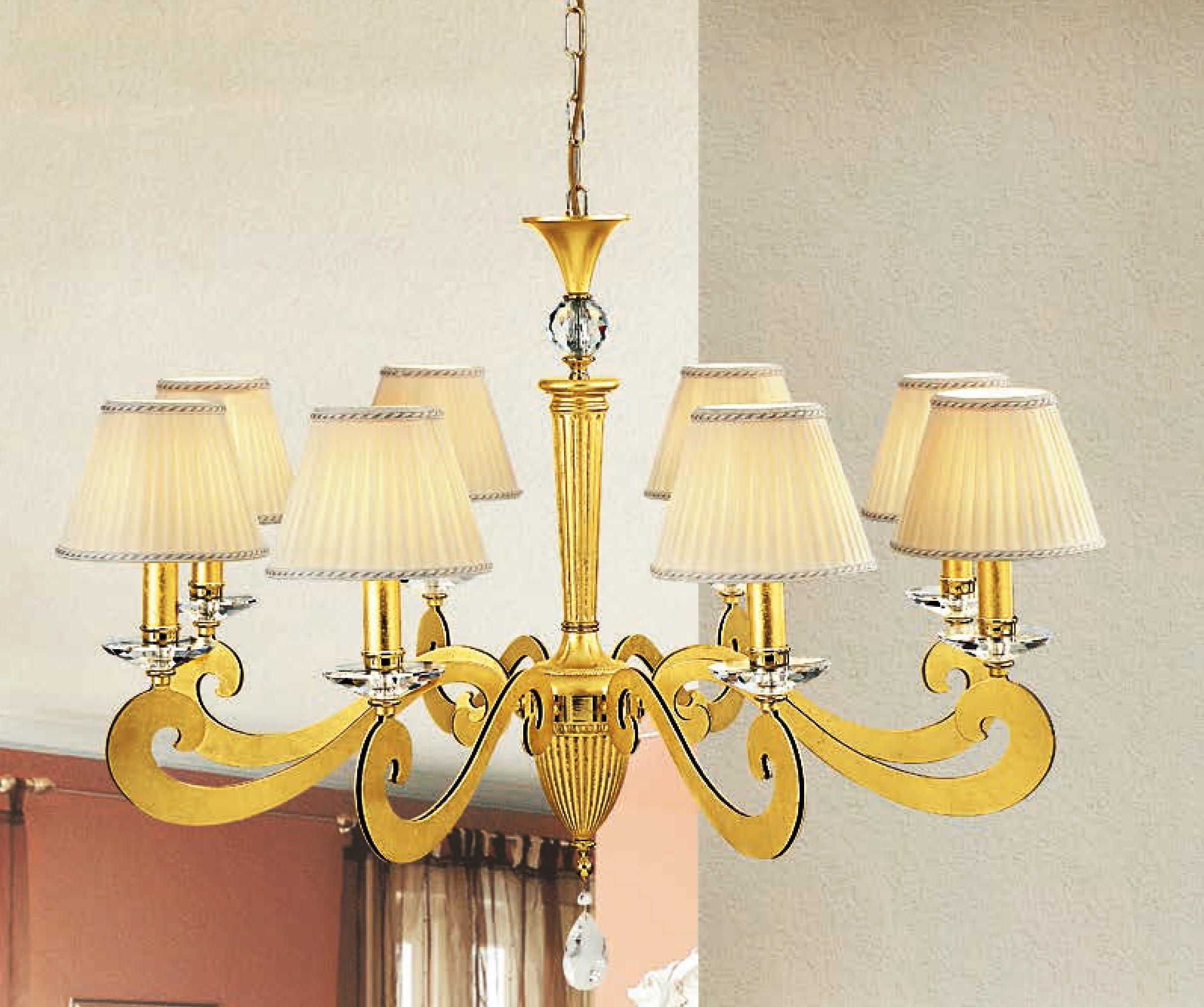 Lam via dese lampada a sospensione 3870 8 foglia oro for Lampade vendita