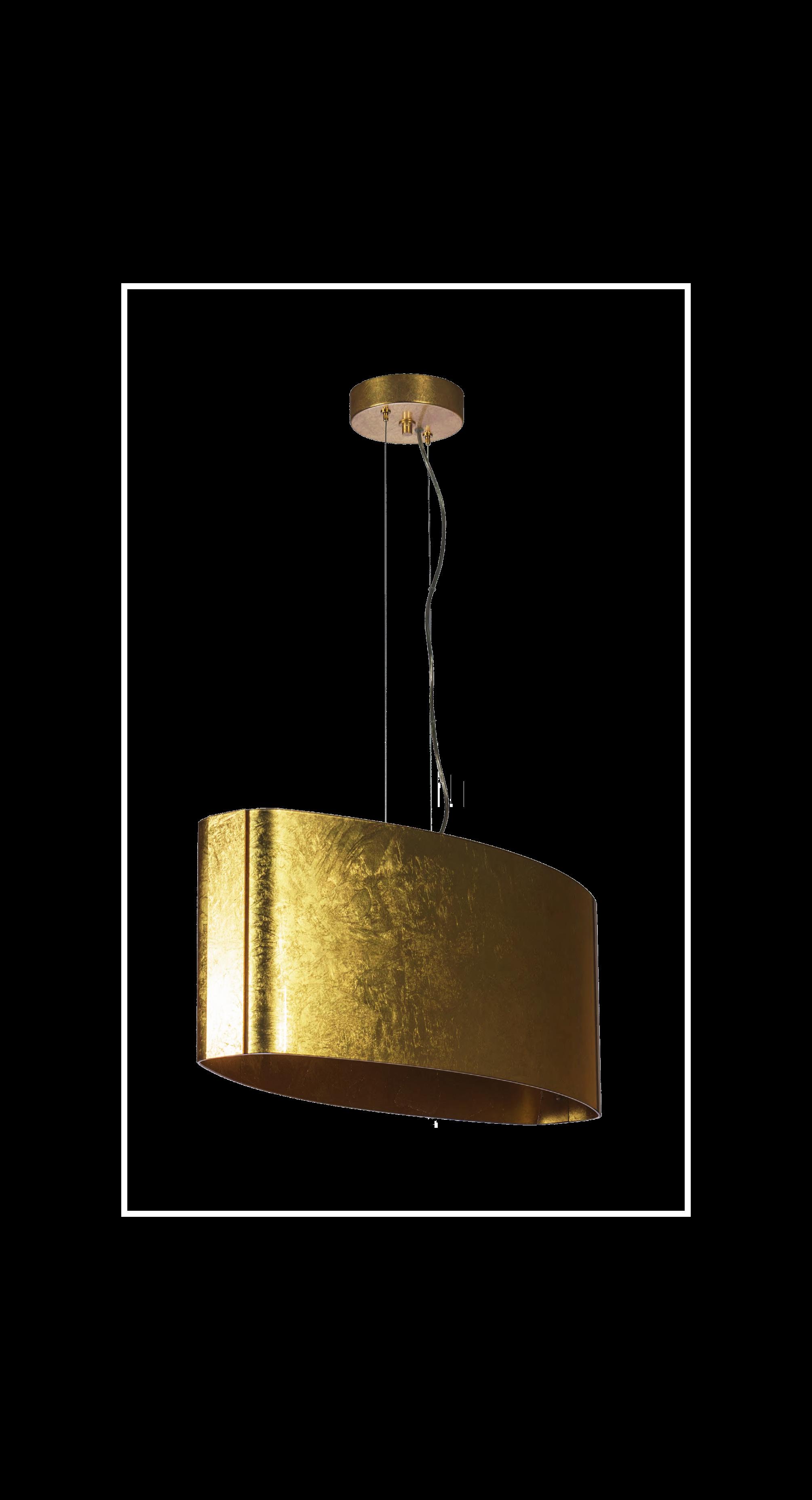 Padana Lampadari Lampada a sospensione IRENE 252-Foglia Oro