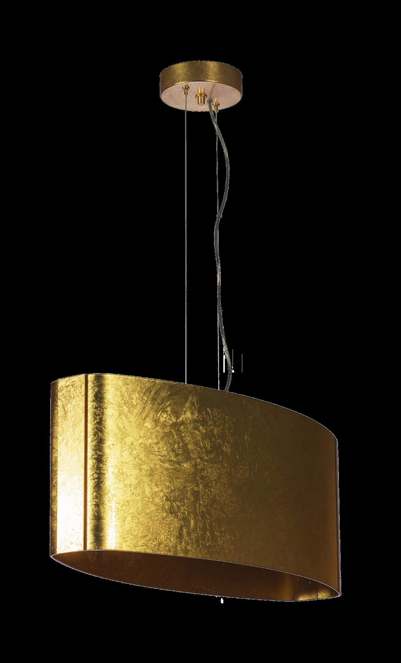Voffca com   Lampadari Da Cucina Moderni A Led -> Lampadario Foglia Oro Moderni