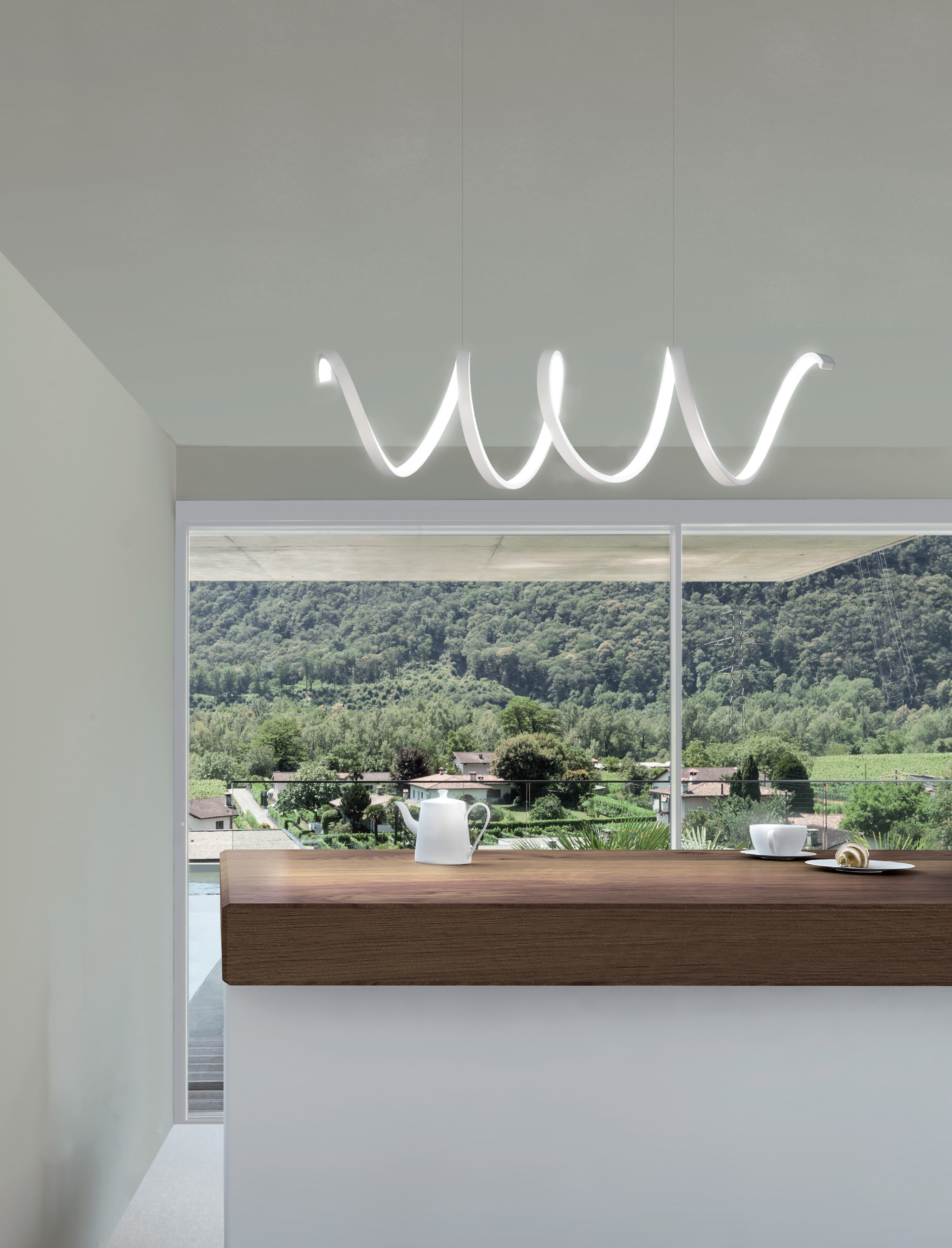 Sikrea lampada a sospensione lea led s for Foto lampadari moderni