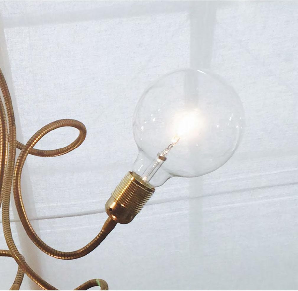 Sideform lampada da parete flexi nudo ottone   notali lampadari