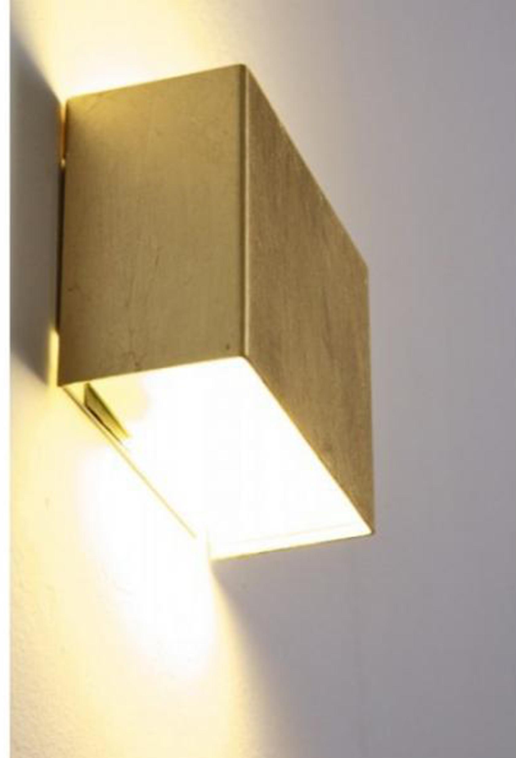 SIkrea Lampada Da Parete BOX LED-O Foglia Oro - Notali Lampadari