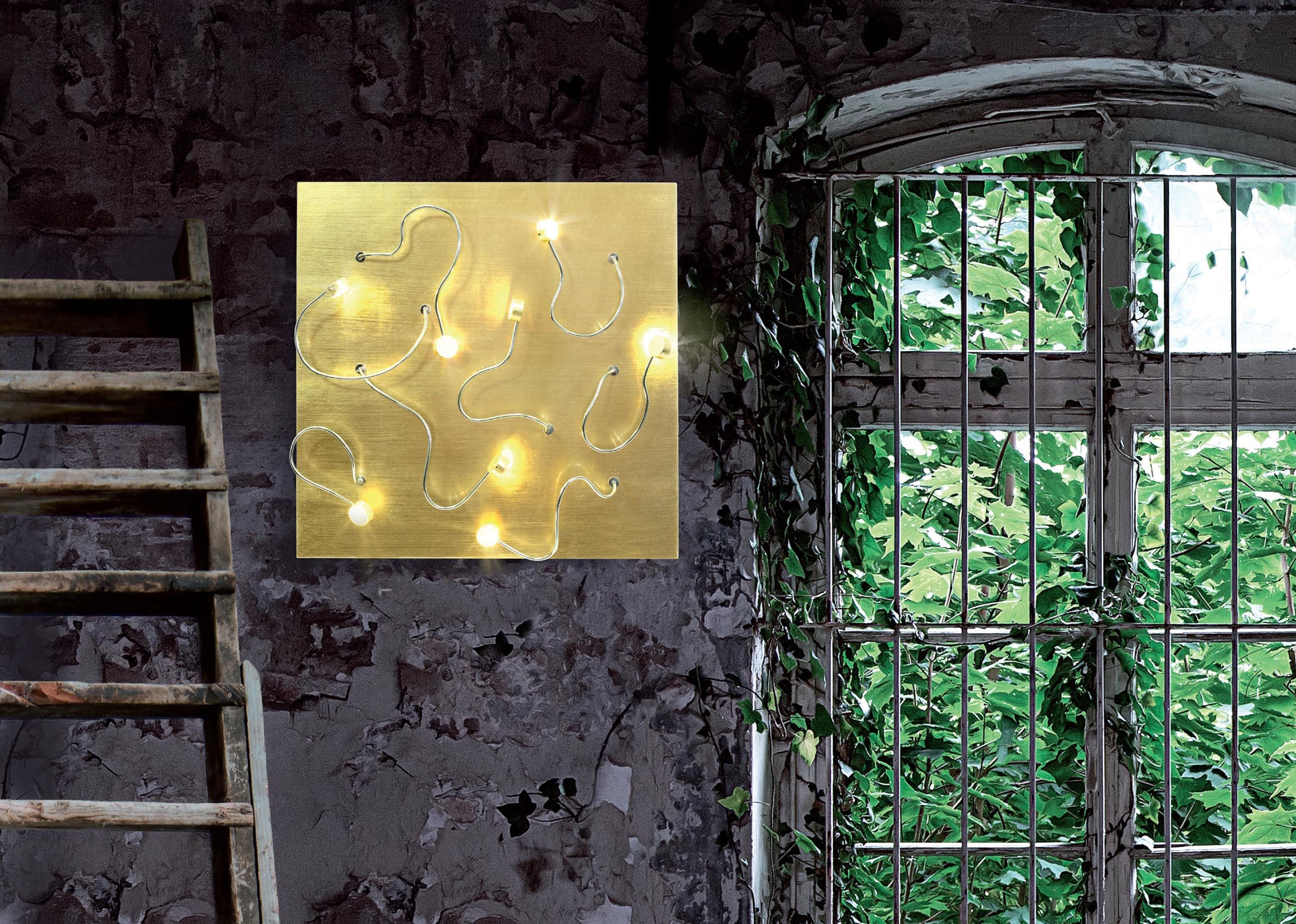 Sikrea lampada da parete plafoniera fleg led g oro