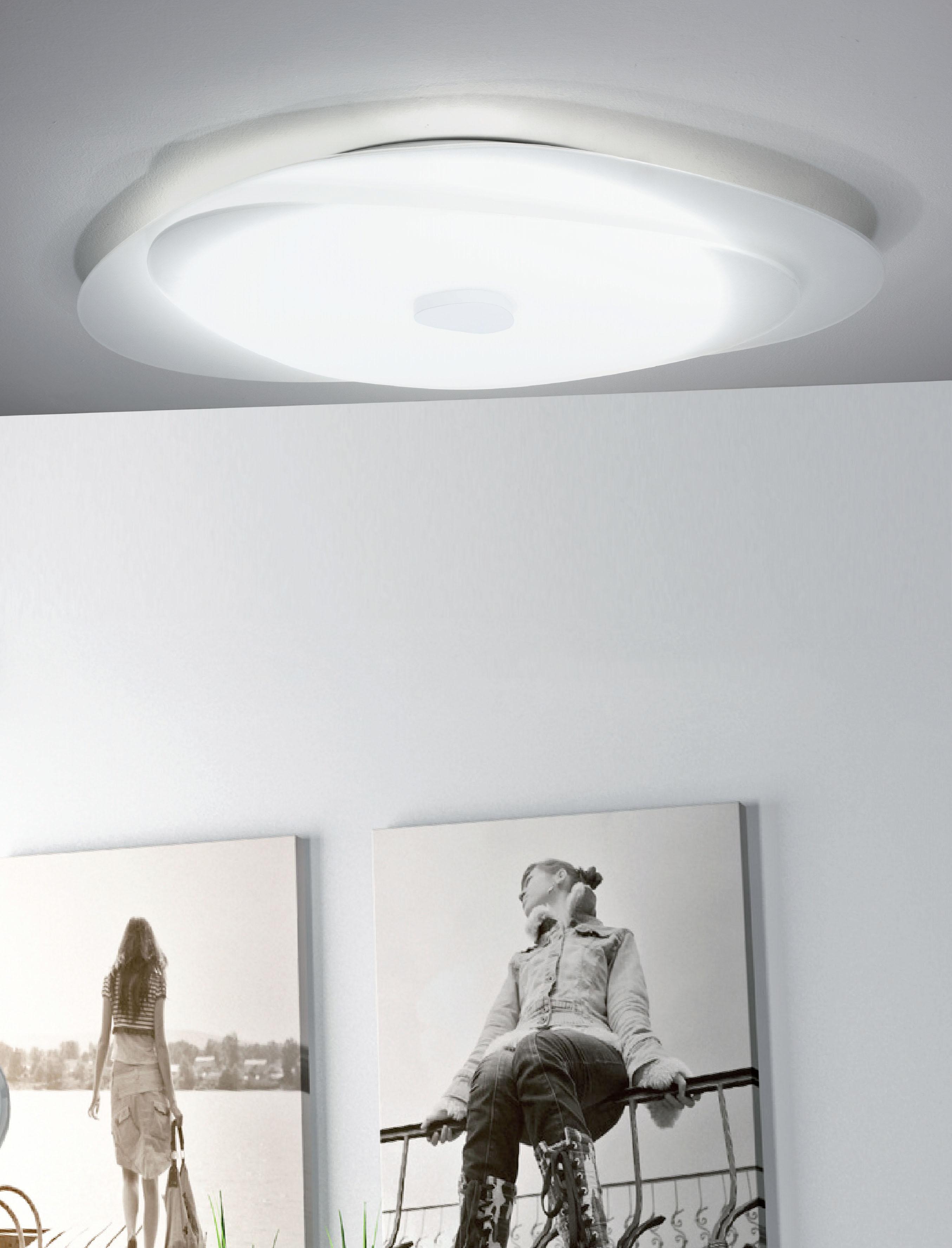 Sikrea lampada da soffitto e da parete led aura vetro satinato - Lampada bagno soffitto ...
