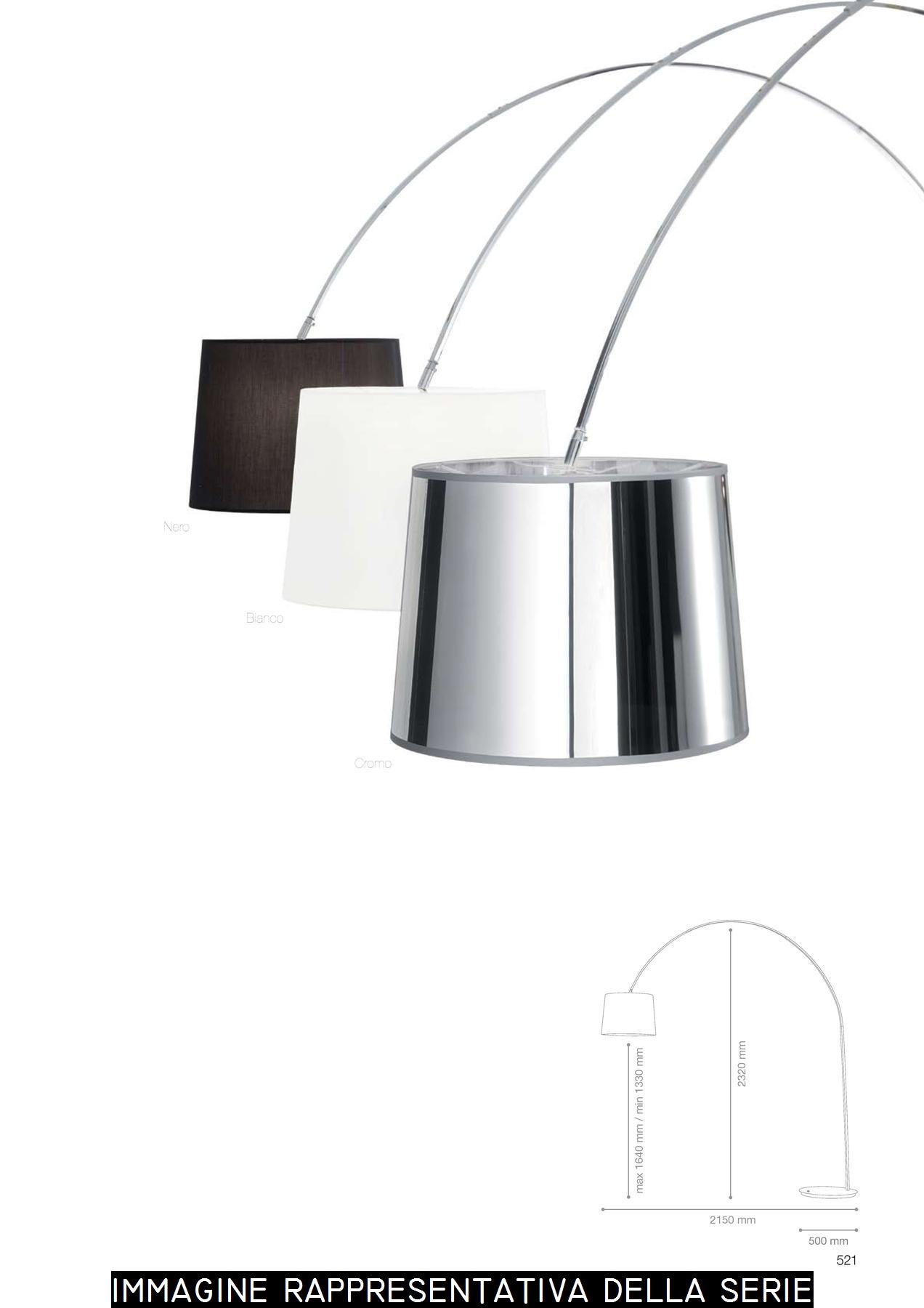 Ideal Lux Lampada da terra DORSALE PT1 Nero Bianco Cromo
