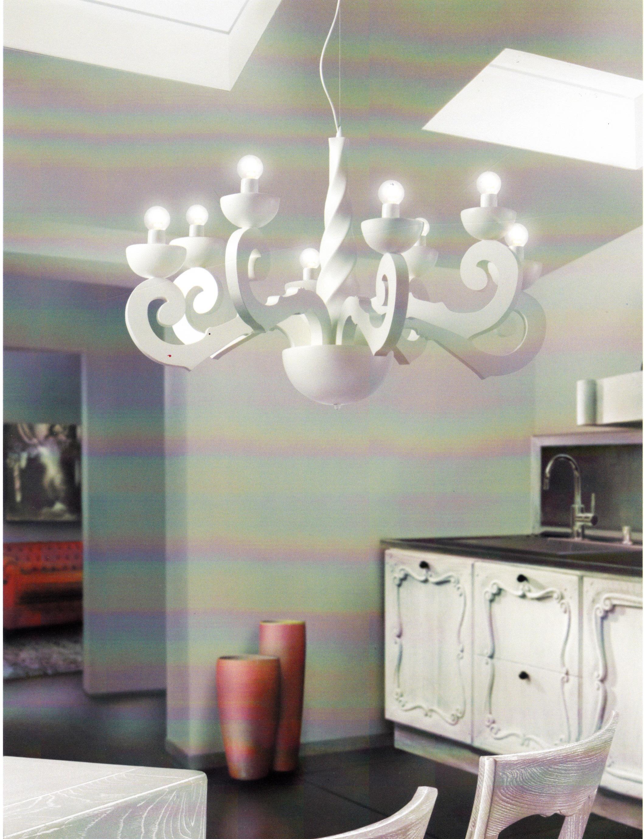 Maltinti lampario 8l. legno 404/8   notali lampadari
