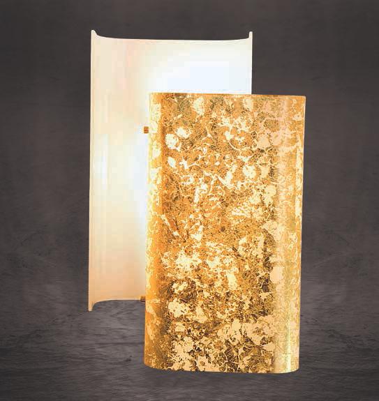 Lam lampada da parete giano gd 0107/1a   colore foglia oro ...