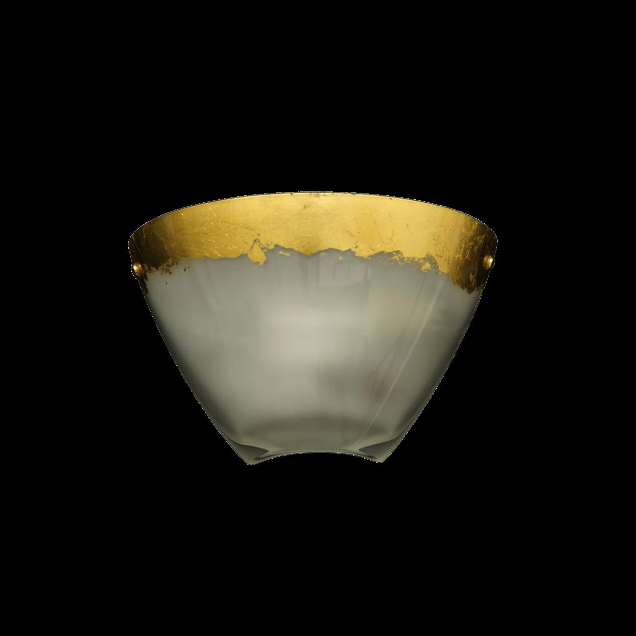 Padana Lampadari Lampada da parete ZOIDE 1050/A - Colore foglia oro ...