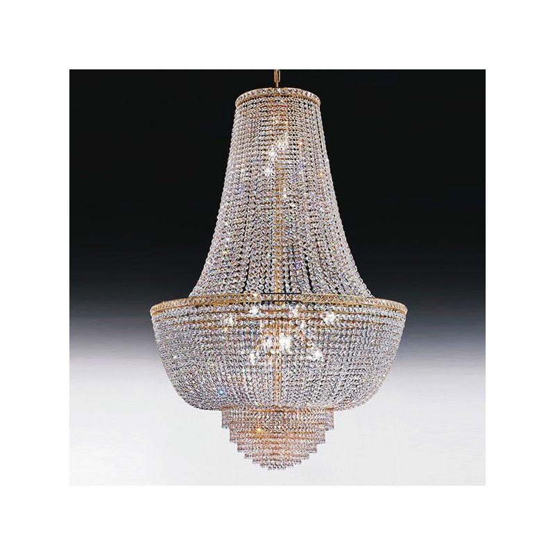 ferroluce lampadari catalogo : Voltolina Lampadario con cristalli ROMA LAMP. IMPERO D43