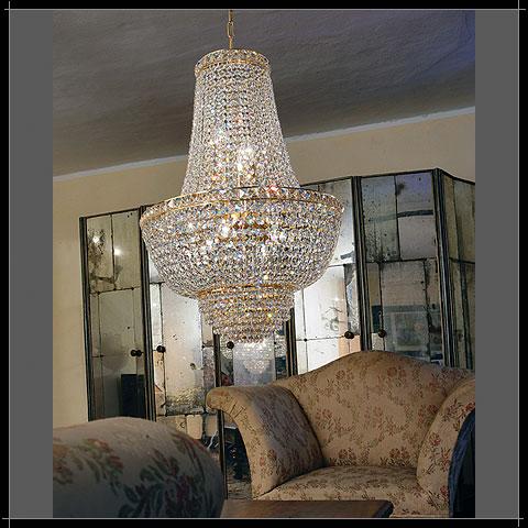 lampadari voltolina : Voltolina Lampadario con cristalli ROMA LAMP. IMPERO D43 - Vendita ...